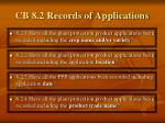 cb 8 2 records of applications