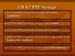 cb 8 7 ppp storage