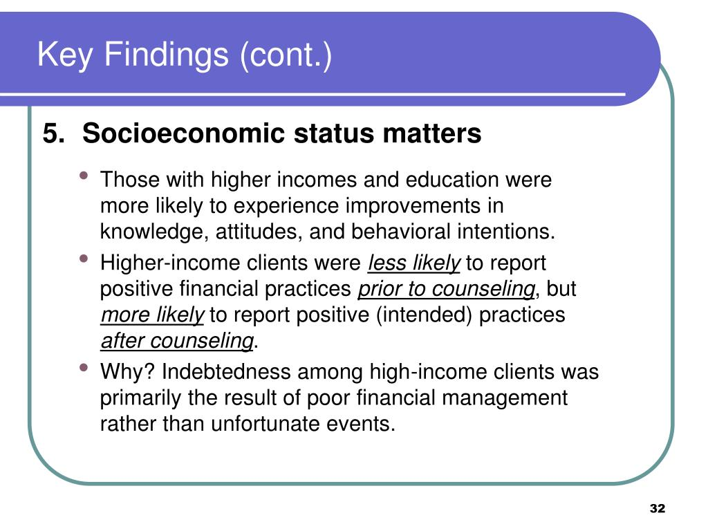 Key Findings (cont.)