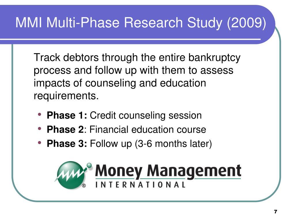 MMI Multi-Phase Research Study (2009)