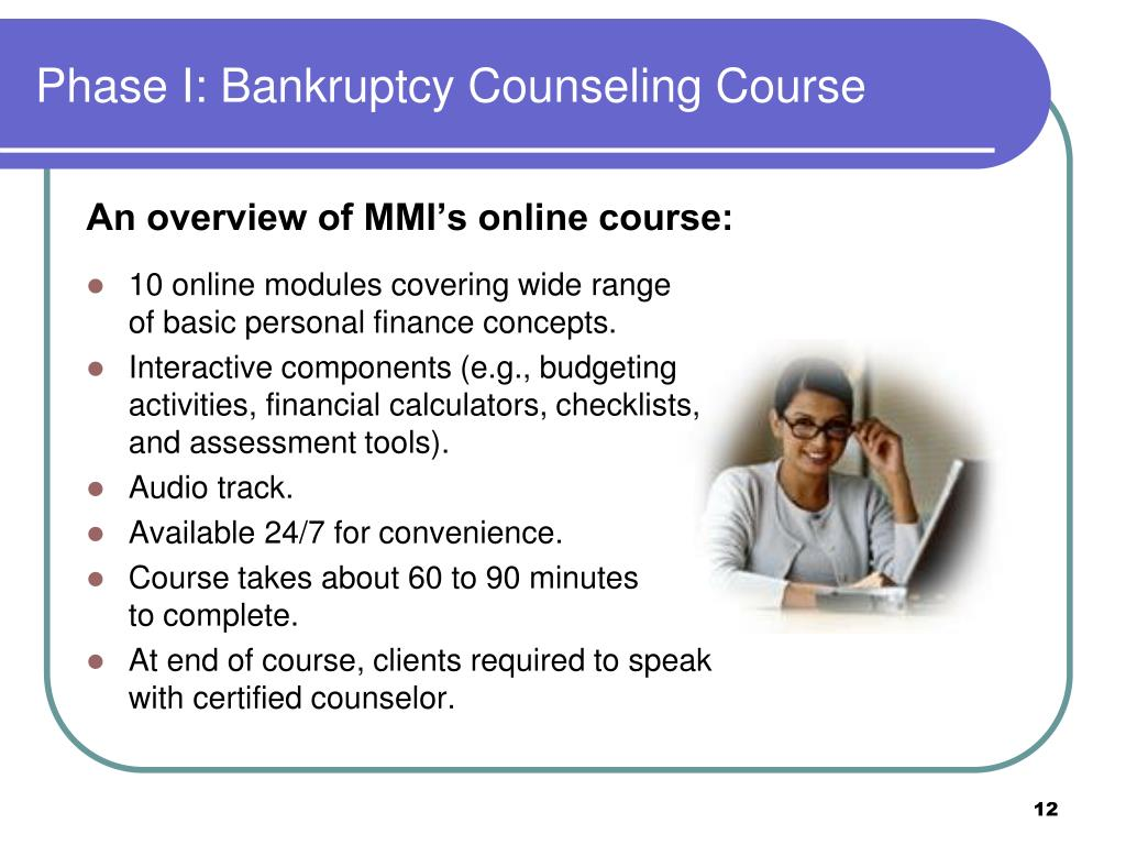 Phase I: Bankruptcy Counseling Course