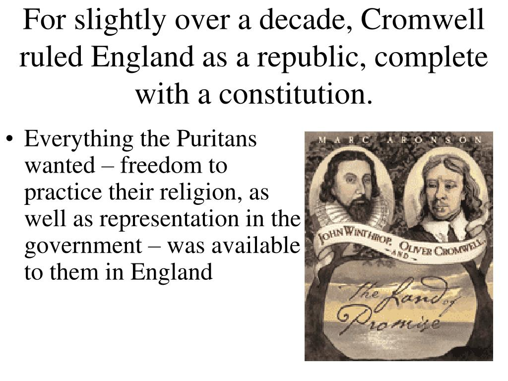 For slightly over a decade, Cromwell ruled England as a republic, complete with a constitution.