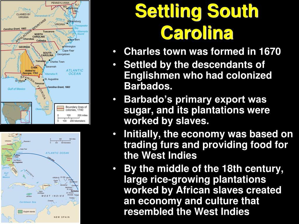 Settling South Carolina