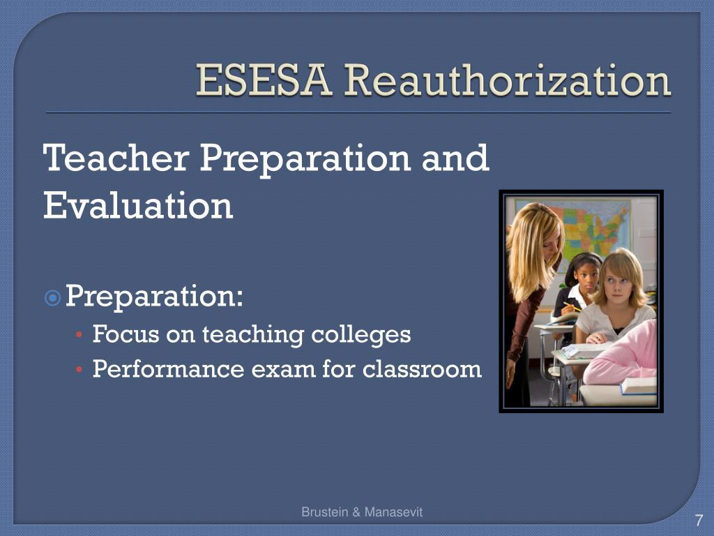 ESESA Reauthorization