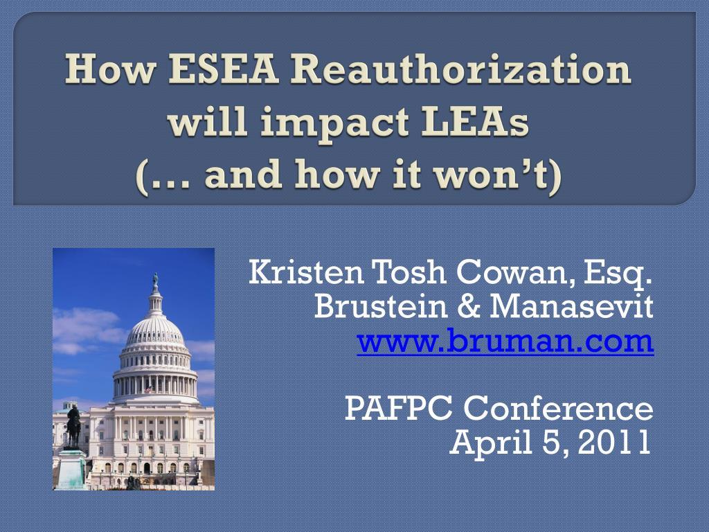 How ESEA Reauthorization