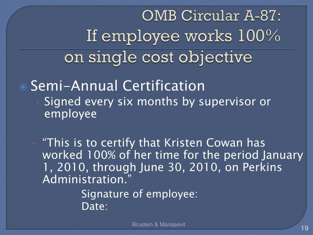 OMB Circular A-87: