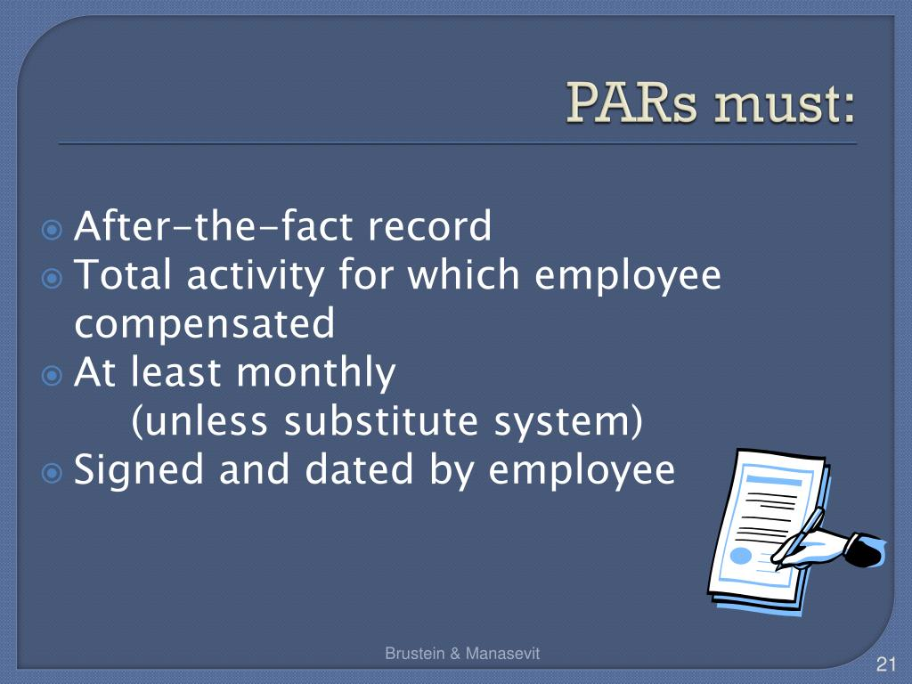 PARs must: