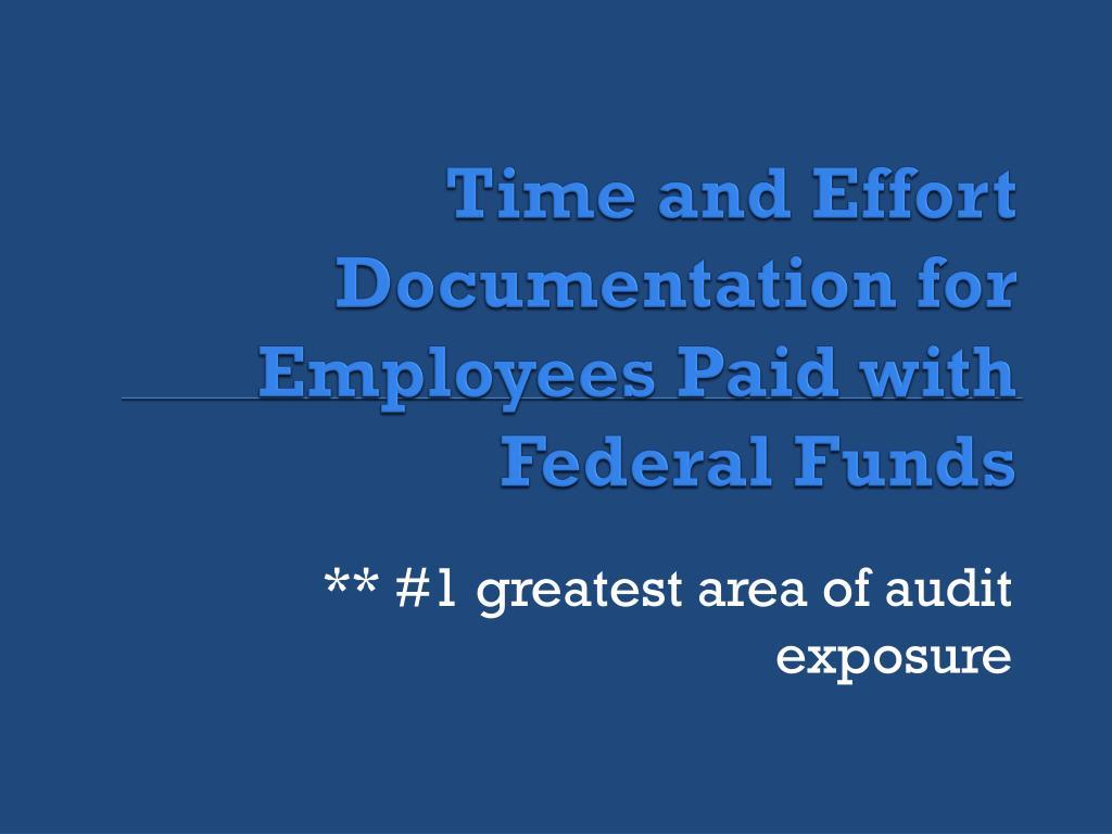 Time and Effort Documentation for