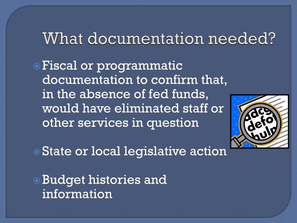 What documentation needed?