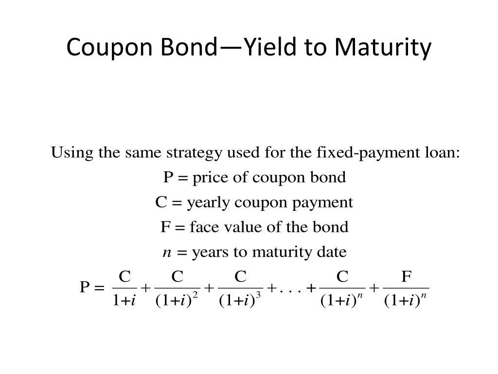Coupon Bond—Yield to Maturity