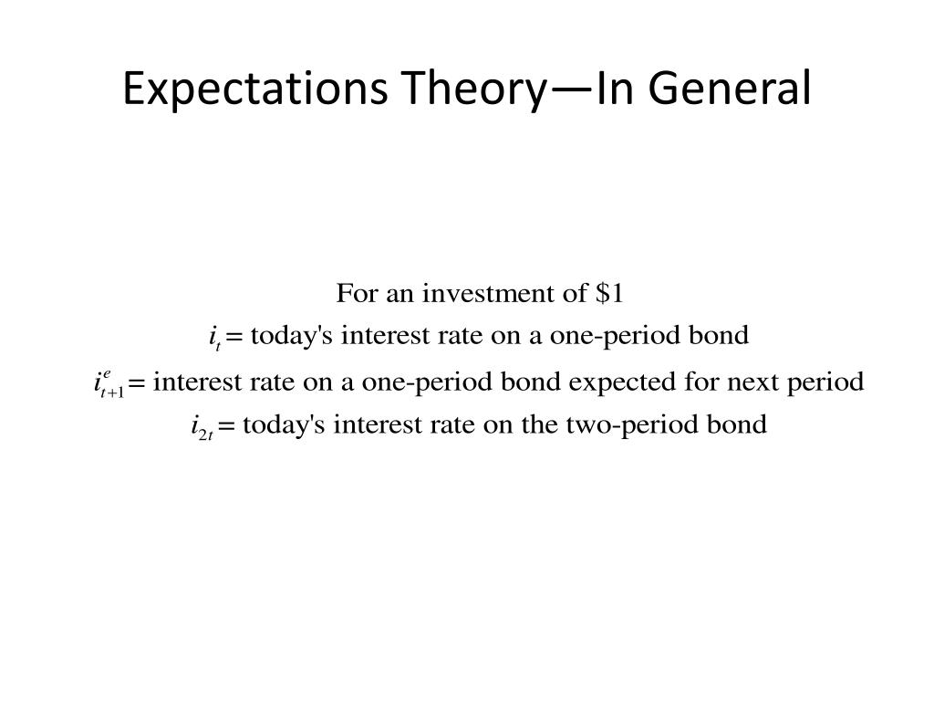 Expectations Theory—In General