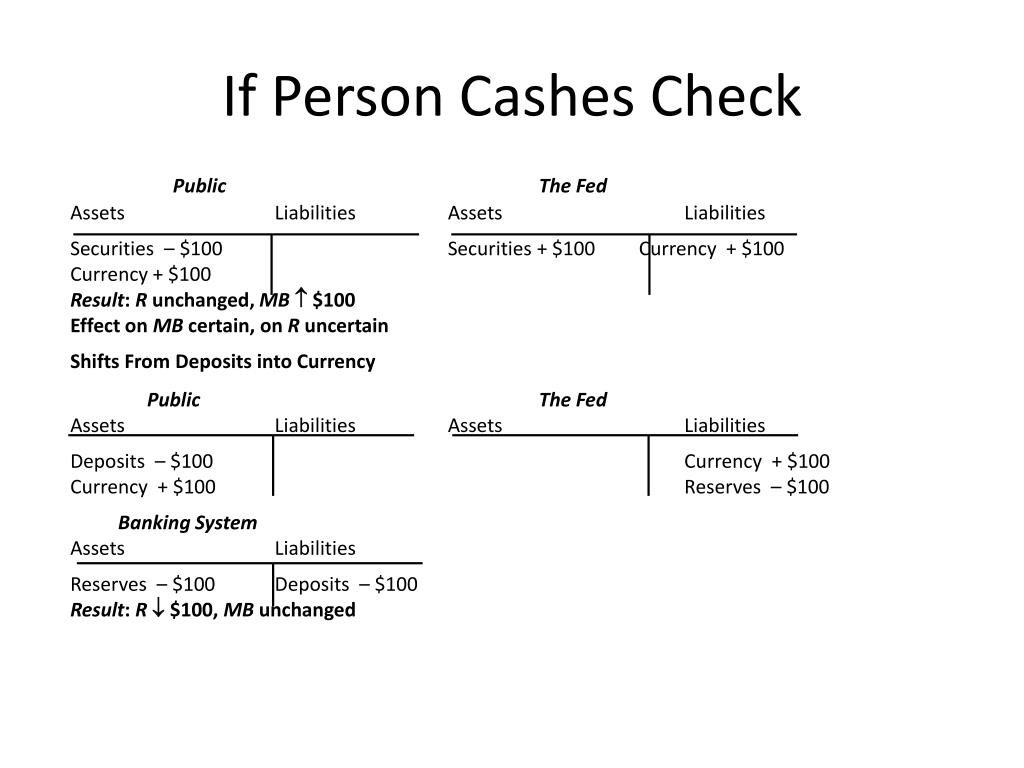 If Person Cashes Check