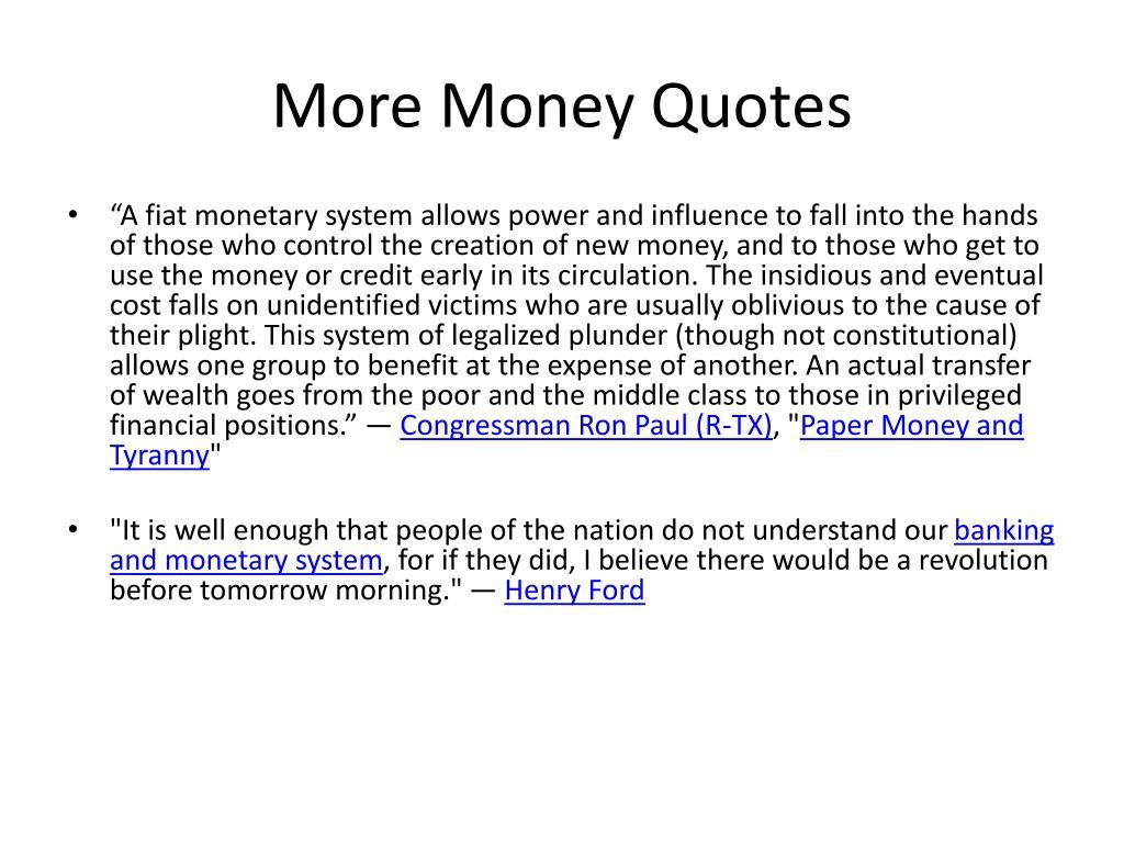 More Money Quotes