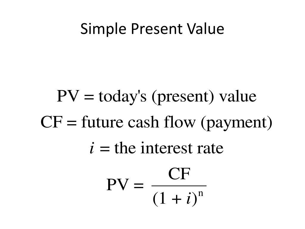 Simple Present Value