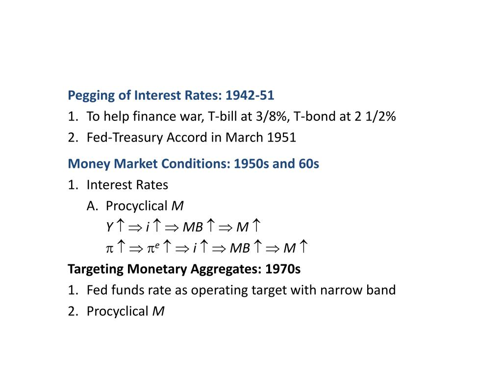 Pegging of Interest Rates: 1942-51