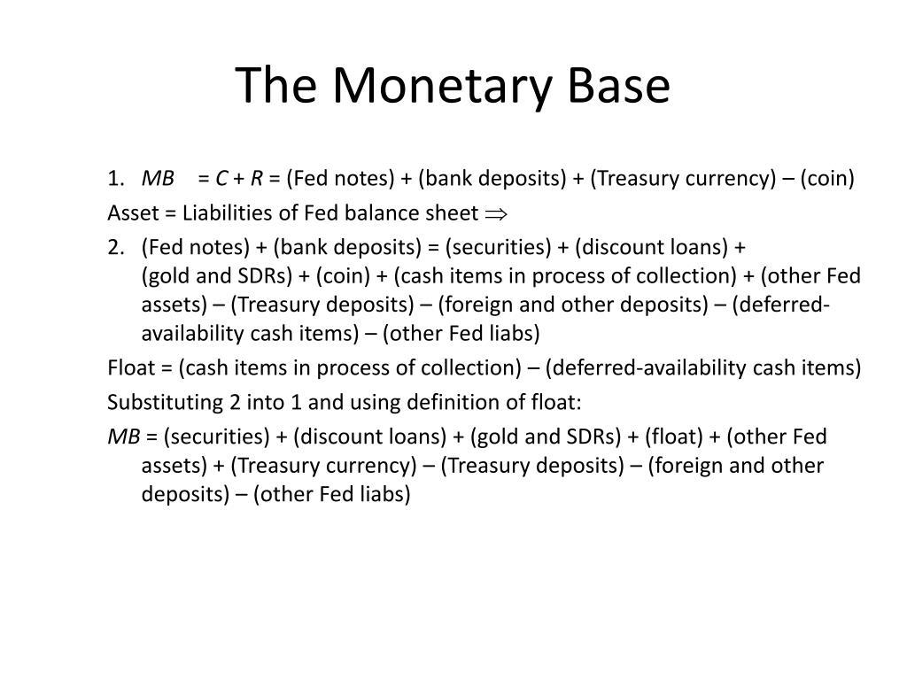 The Monetary Base