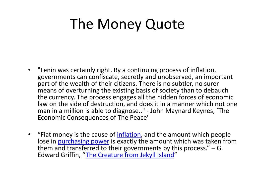 The Money Quote