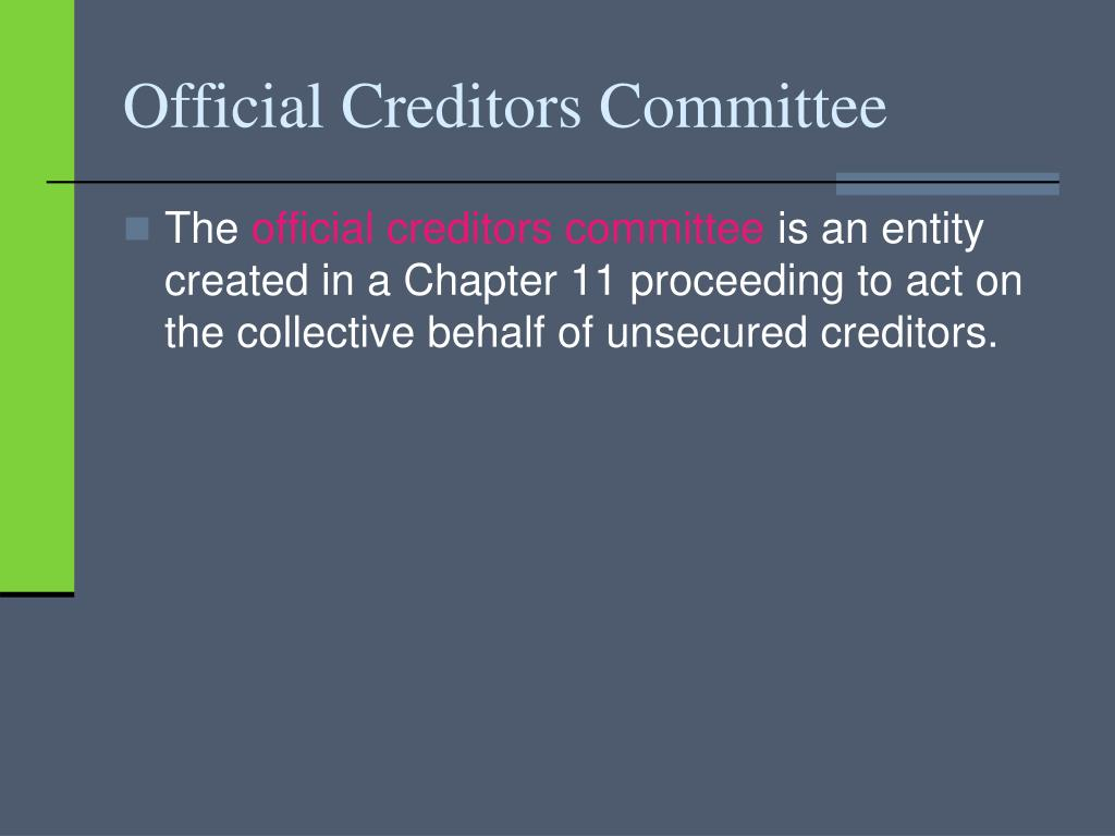 Official Creditors Committee