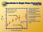 nanofluids in single phase convection p phelan asu
