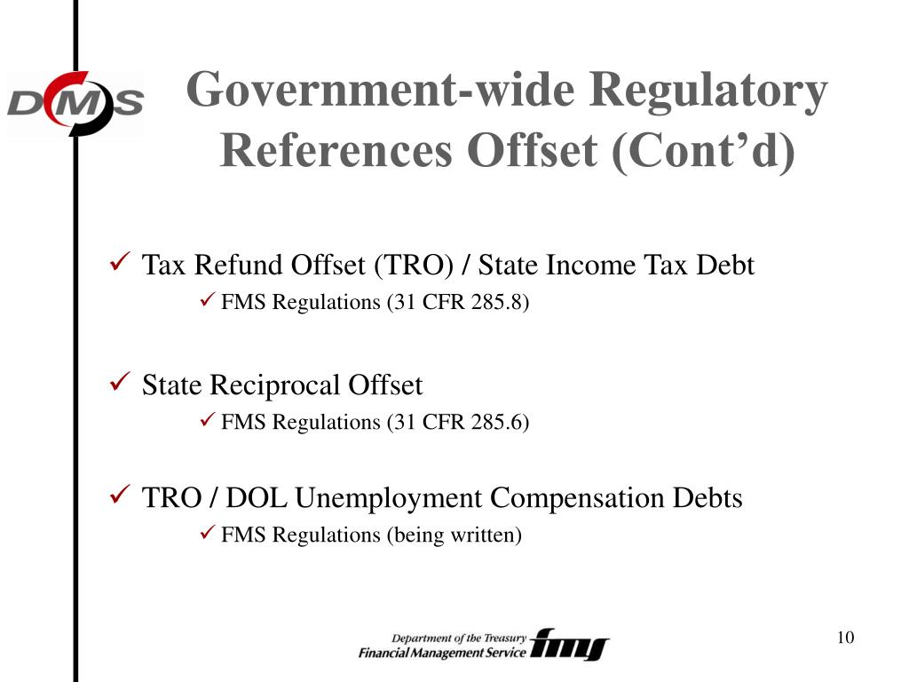 Government-wide Regulatory References Offset (Cont'd)