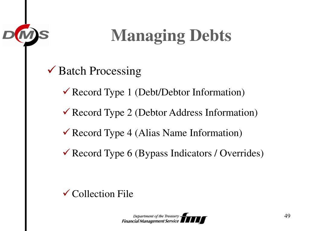 Managing Debts