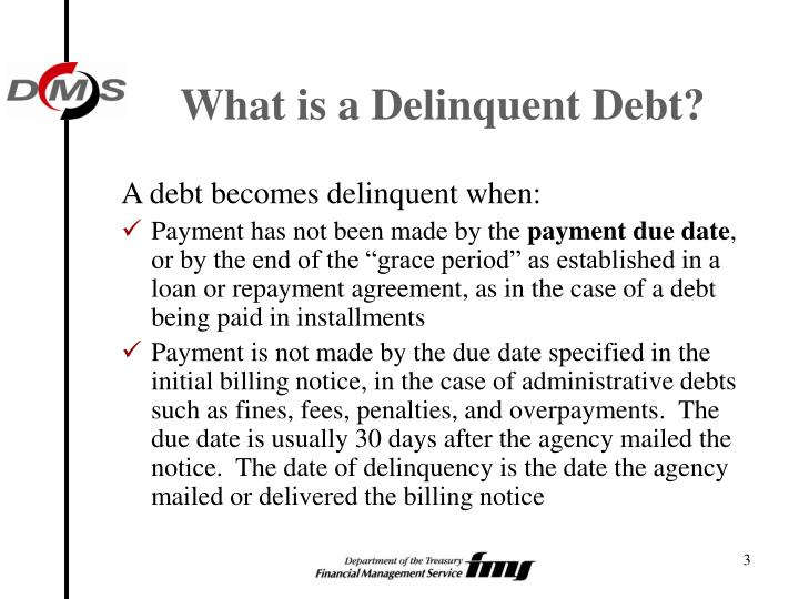 What is a delinquent debt