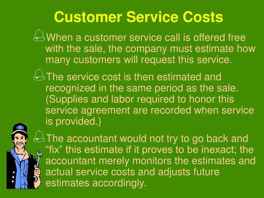 Customer Service Costs