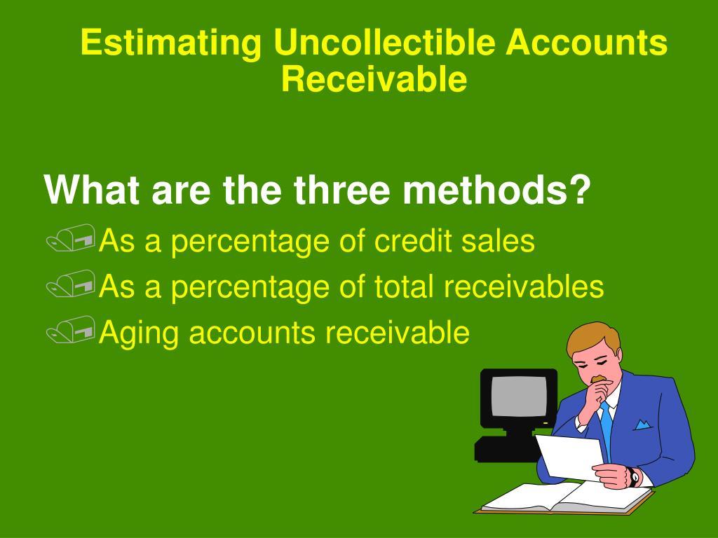 Estimating Uncollectible Accounts Receivable