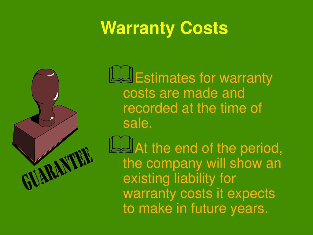 Warranty Costs