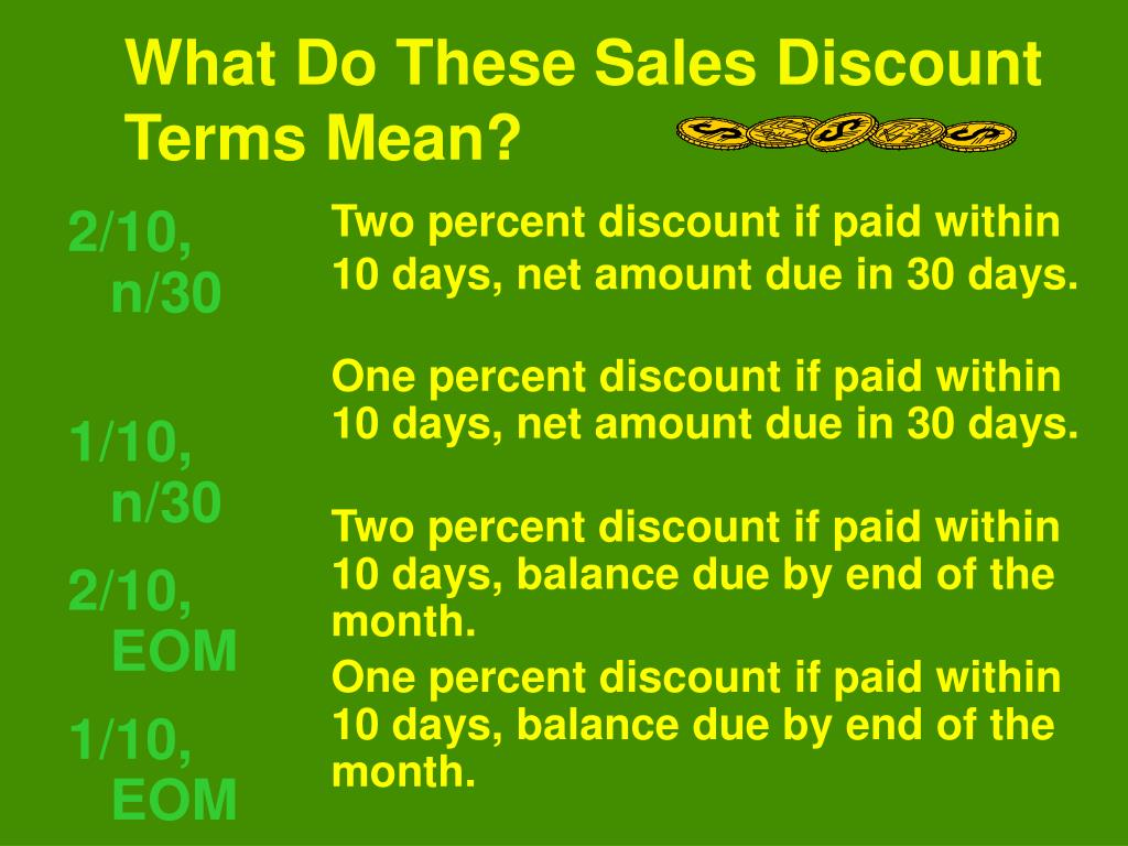 What Do These Sales Discount Terms Mean?