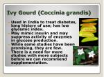 ivy gourd coccinia grandis