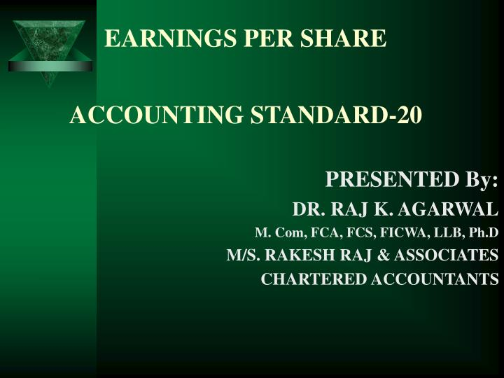 earnings per share accounting standard 20 n.