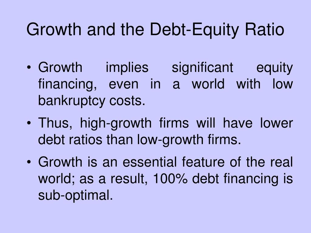 Growth and the Debt-Equity Ratio