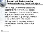 eastern and southern africa technical advisory services project