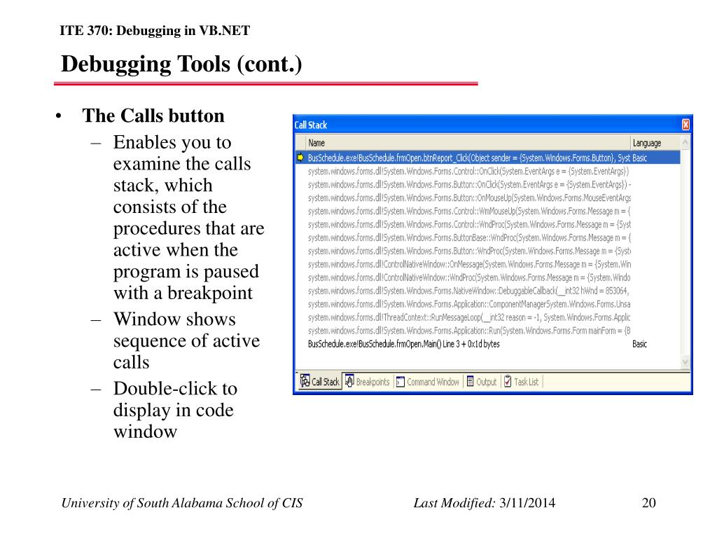 PPT - Testing and Debugging in VB NET PowerPoint Presentation - ID