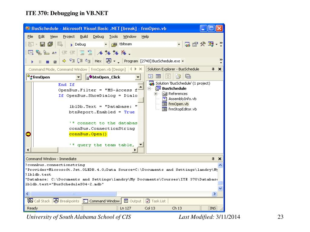 PPT - Testing and Debugging in VB NET PowerPoint