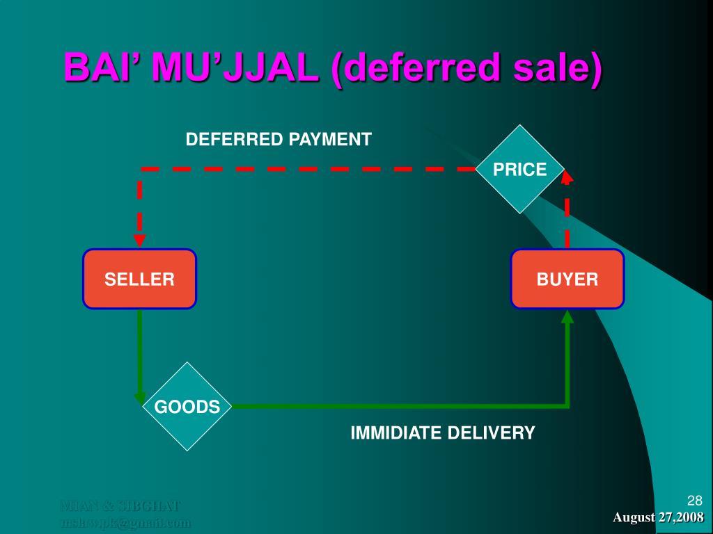 BAI' MU'JJAL (deferred sale)