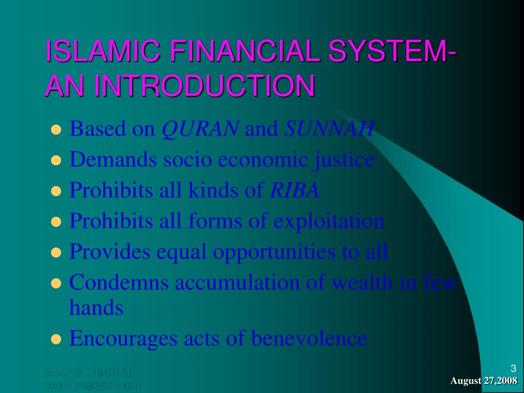 ISLAMIC FINANCIAL SYSTEM- AN INTRODUCTION