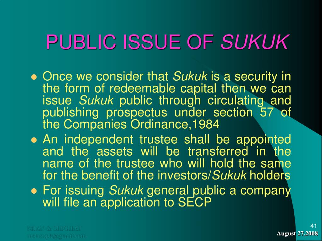 PUBLIC ISSUE OF