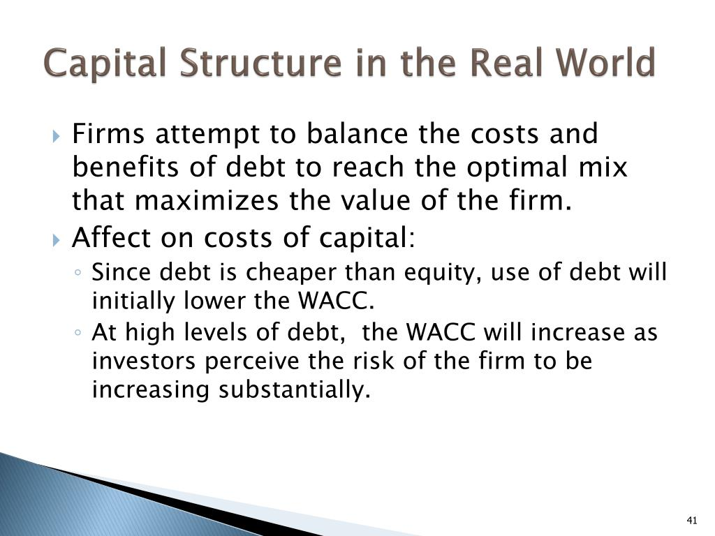 Capital Structure in the Real World