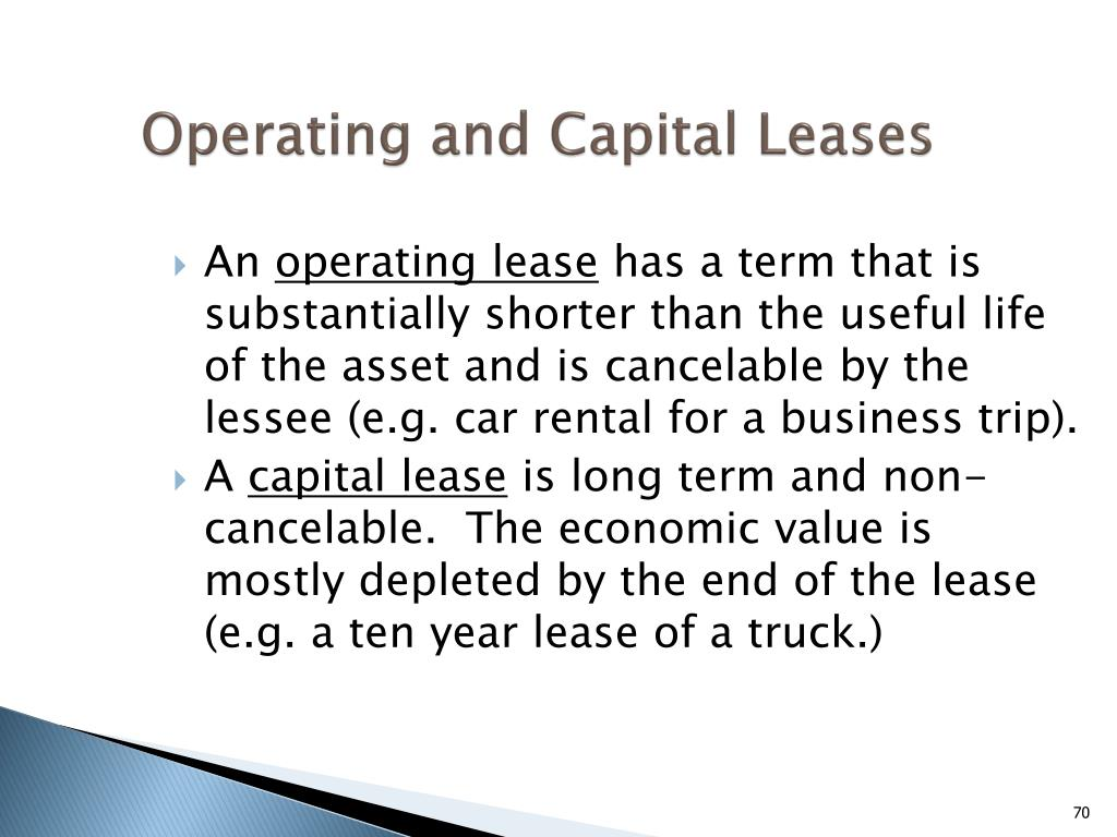 Operating and Capital Leases