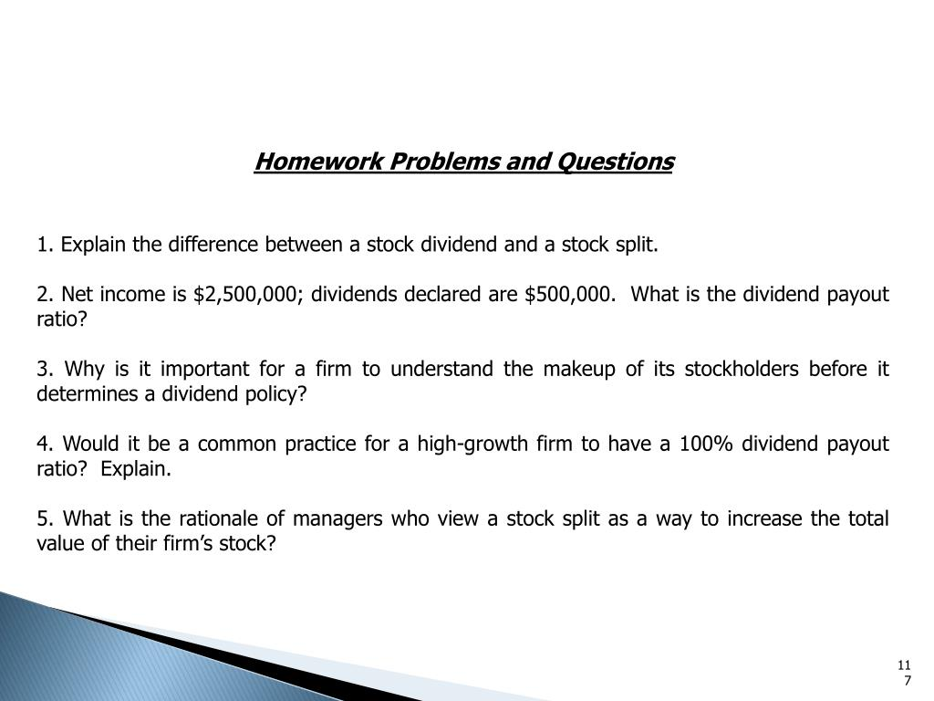 Homework Problems and Questions