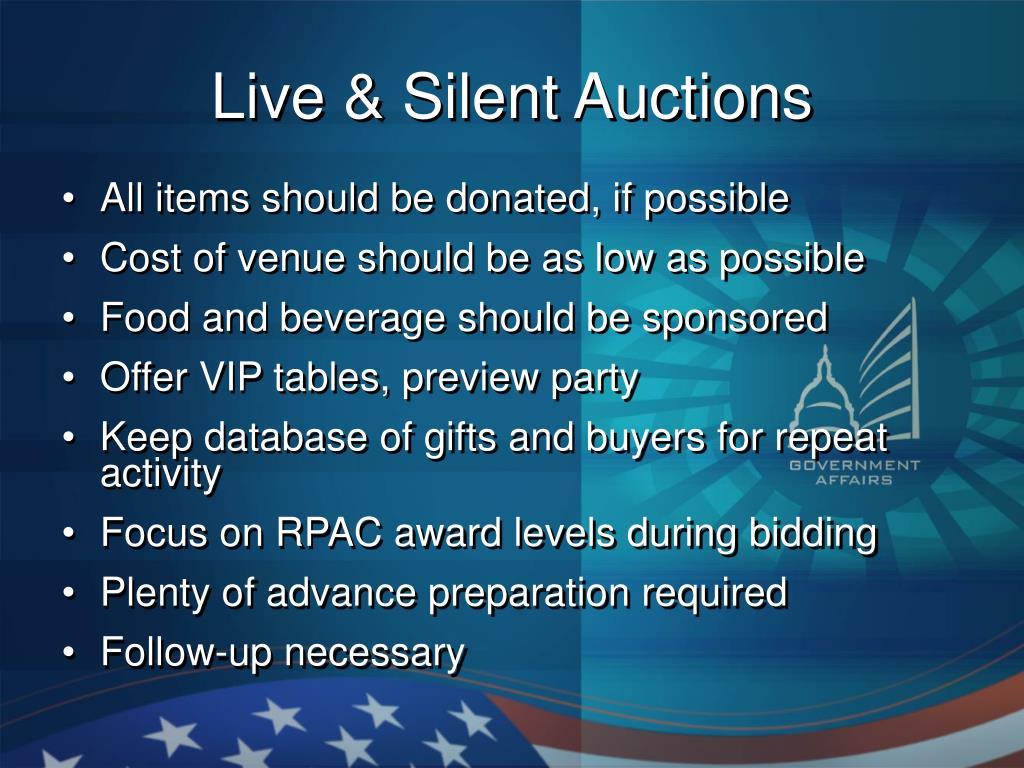 Live & Silent Auctions