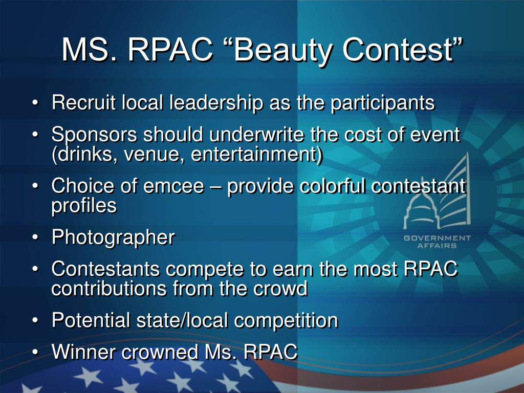 """MS. RPAC """"Beauty Contest"""""""