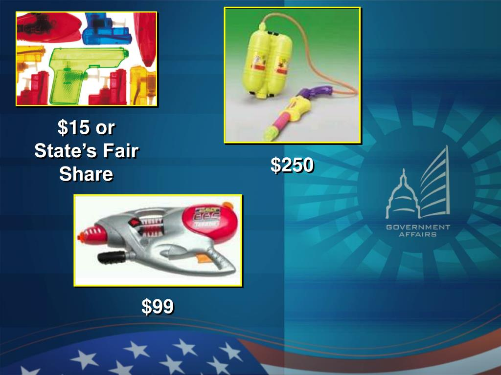 $15 or State's Fair Share