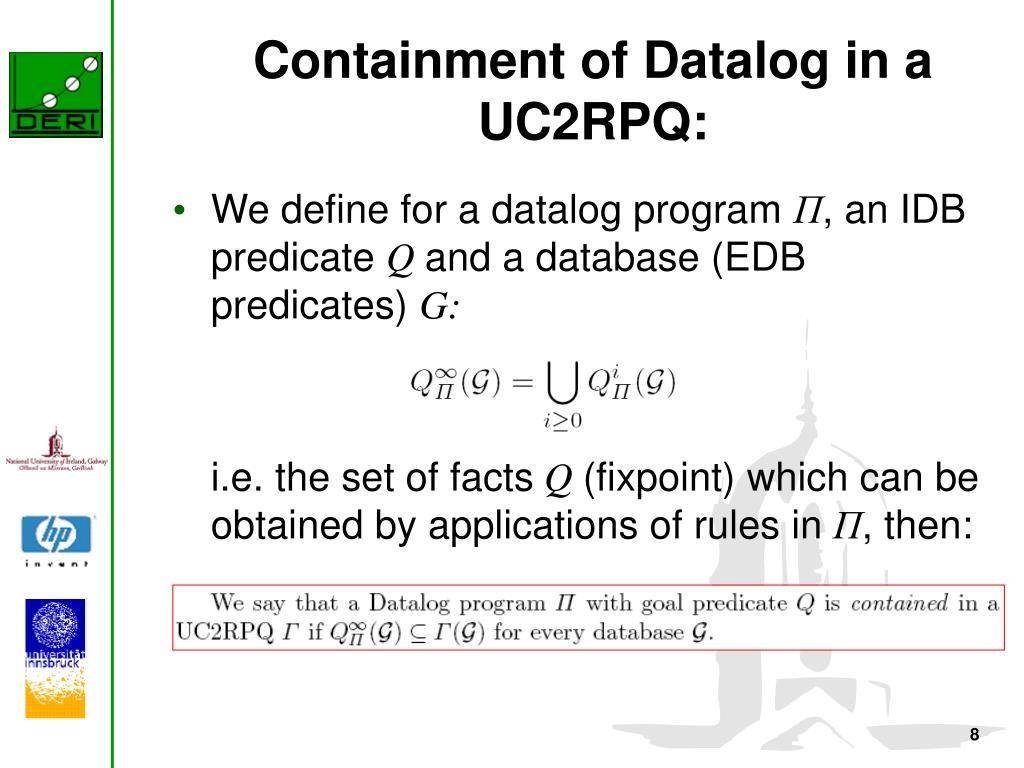 Containment of Datalog in a UC2RPQ: