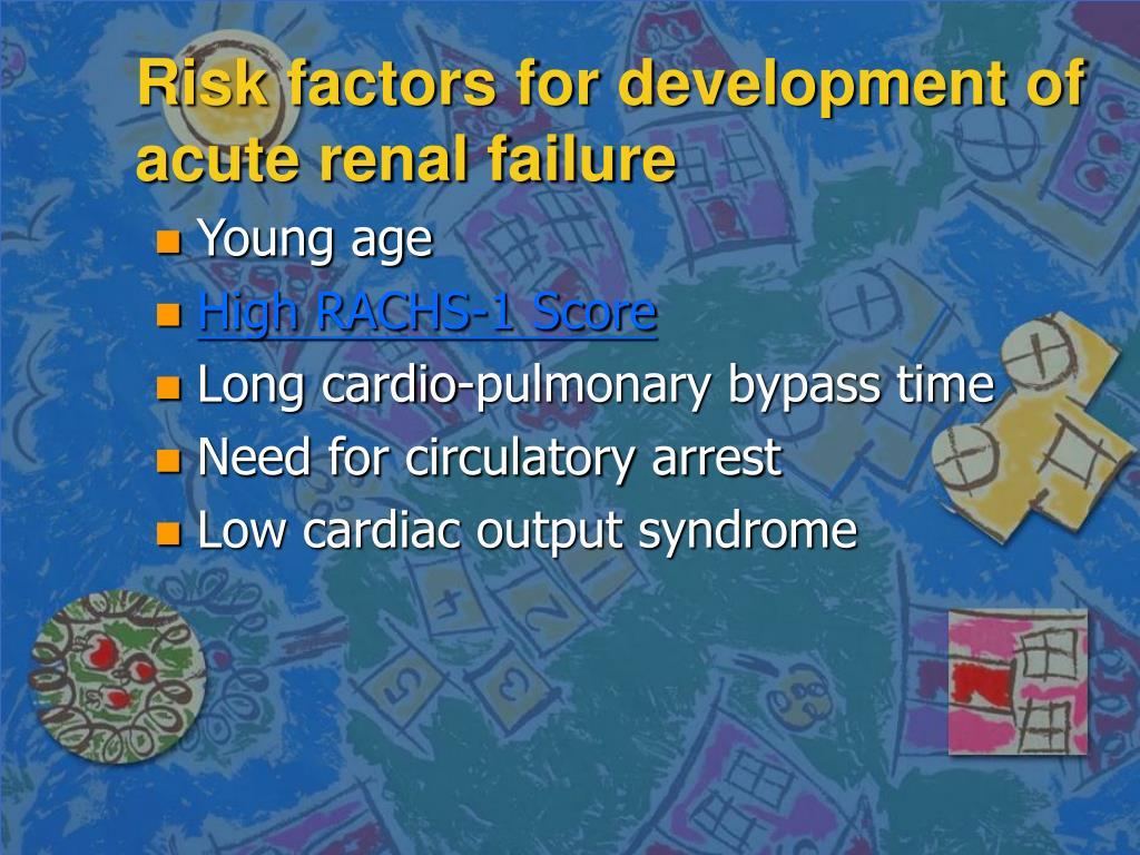 Risk factors for development of acute renal failure