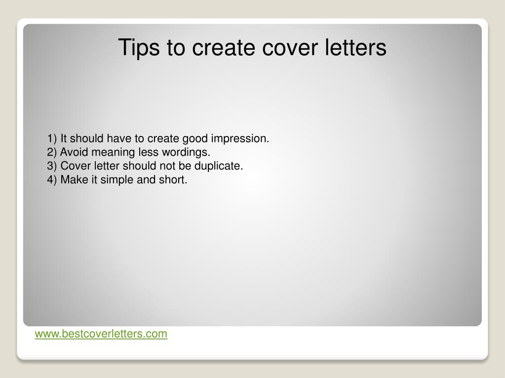 Ppt Cover Letters Powerpoint Presentation Free Download Id 242389