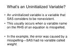 what s an uninitialized variable