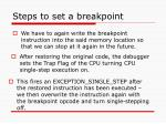 steps to set a breakpoint30